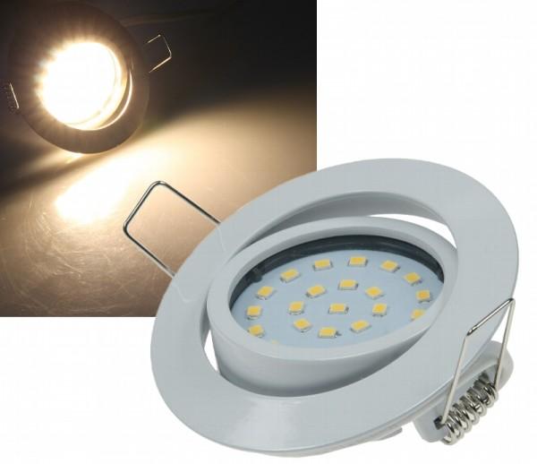 """LED Einbaustrahler """"Flat-26"""" warmweiß 4W Weiß"""