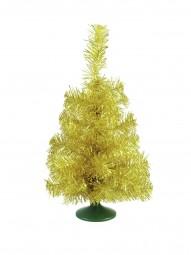 EUROPALMS Tischtannenbaum, gold, 45cm