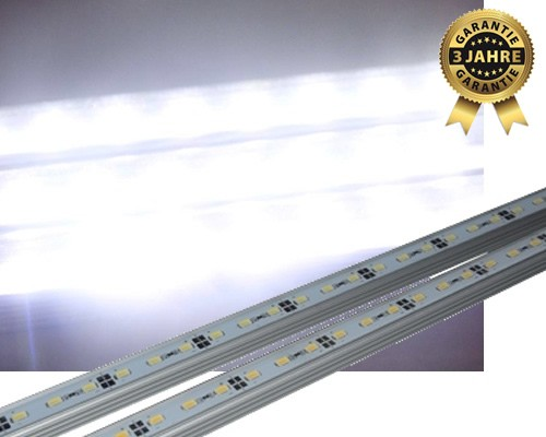LED Aquarium Beleuchtung 80 - LED Leisten Set 3990lm SMD 5630 kaltweiß