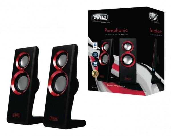 sweex Purephonic USB Lautsprecher 2.0 Set 20W
