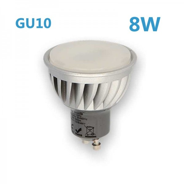 LED GU10 8W 230V Leuchtmittel neutralweiß (Spot, Strahler)