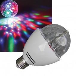 LED E27 RGB Discokugel Lichteffekt