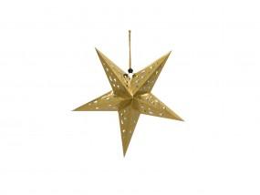 EUROPALMS Stern Laterne, Papier, gold, 40 cm