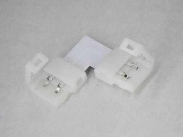 2-pol Eckverbinder für LED Strips 5050 5630 L-Adapter 10mm