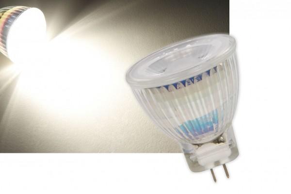 3W Glas Leuchtmittel LED Strahler GU4 COB MR11 250lm warmweiß