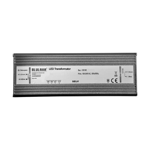 Blulaxa Wasserdichter ultraflacher LED Trafo 0,5 - 100W für 12V DC LED - IP67