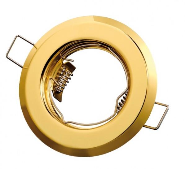 Einbaurahmen rund gold starr 55mm