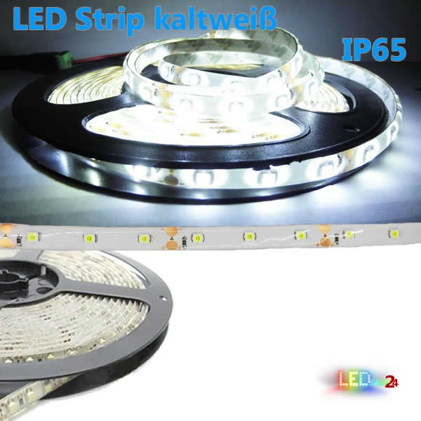 Flex LED Strip KALTWEIß 5m 3528 60 LED / m IP65