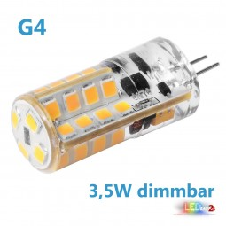 LED G4 dimmbar 3,5W 12V AC/DC Leuchtmittel warmweiß (Spot, Strahler, Halogen)
