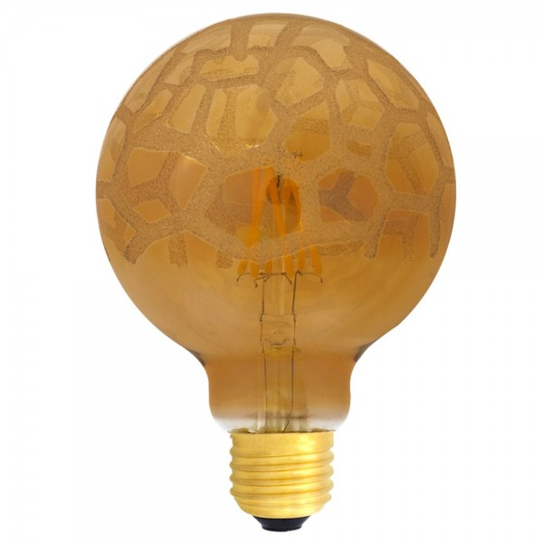 EiKO G95 LED E27 Filament 240V 4W warmweiß 2700K Krokoeis Flower Cover 400lm