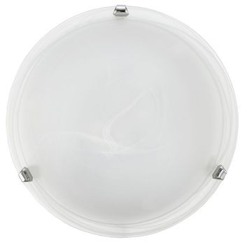 Eglo LED Wandleuchte / Deckenleuchte Salome E27 Stahl chrom weiß