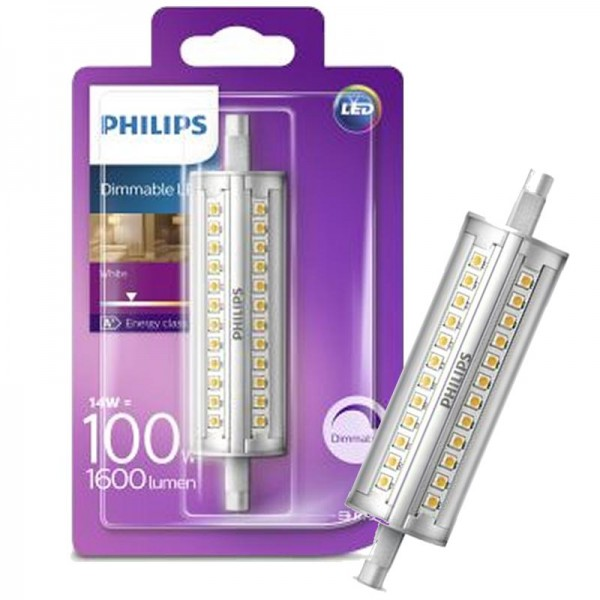 Dimmbare 118mm R7S LED Stablampe 14W 1500lm warmweiß