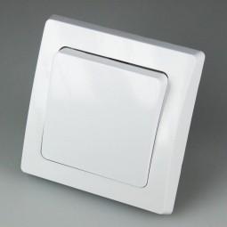 DELPHI Unterputz Wechsel-Schalter 250V~/ 10A mit Rahmen weiß