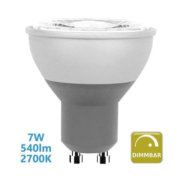 Blulaxa GU10 LED Spot 7W dimmbar Leuchtmittel warmweiß