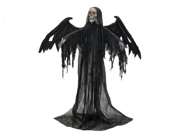 EUROPALMS Halloween Schwarzer Engel, 175x100x66cm