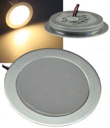 ChiliTec Wasserdichte LED Einbauleuchte warmweiß Alu matt 12V IP67