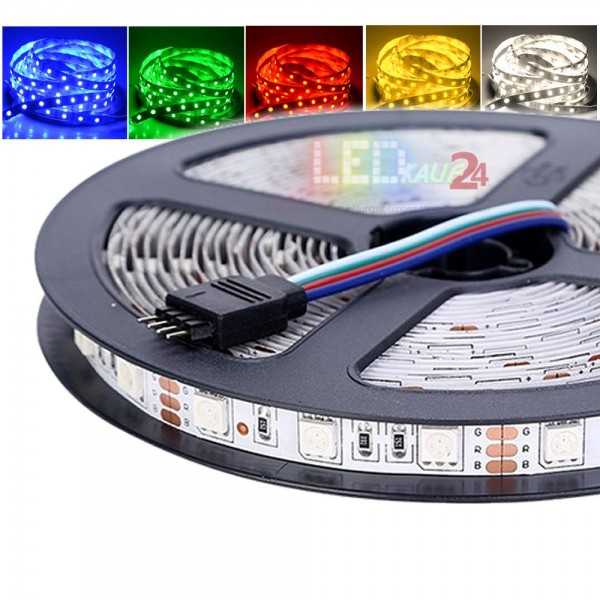 Flex LED RGB Strip SMD 5050 5m 12V IP20