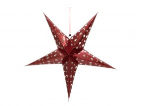 EUROPALMS Stern Laterne, Papier, rot, 75 cm