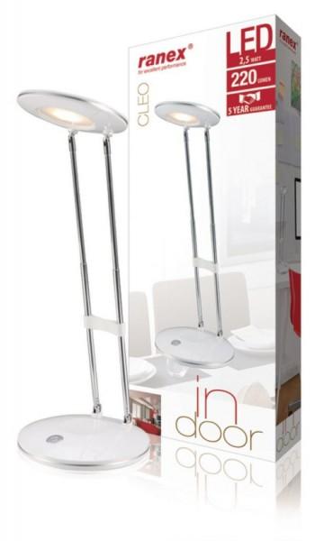 Ranex LED Schreibtischleuchte Cleo 2,5W 220lm weiß