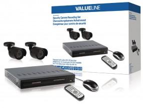 Valueline Videoüberwachungs-Set HDD 500 GB inkl.2 Kameras, Fernbedienung & Maus