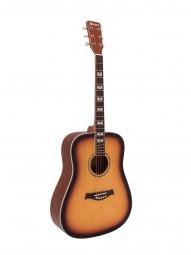 DIMAVERY STW-40 Westerngitarre, sunburst