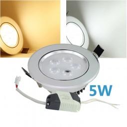 LED Einbaustrahler dreifarbig 5W inkl. Trafo 230V Chrom Spot
