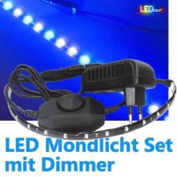 LED Mondlicht mit Dimmer für Aquarien bis 80cm (erweiterbar)