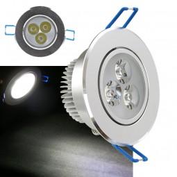 LED Einbaustrahler 3W inkl. Trafo 230V Aluminium Chrom Spot