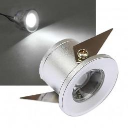 LED Einbaustrahler 1W KALTWEIß inkl. Trafo 230V Aluminium Chrom Sternenhimmel Spot