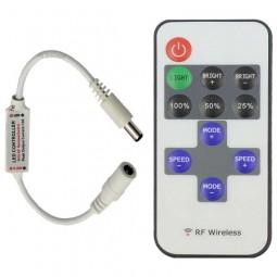 Inline RF Controller 2-polig und Dimmer mit 11 Tasten Fernbedienung 5-24V 12A Funk LED