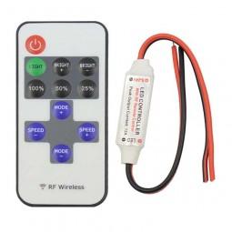RF Controller 2-polig und Dimmer mit 11 Tasten Fernbedienung 5-24V 12A Funk LED