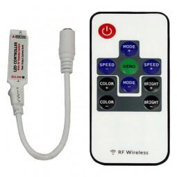 RF Mini RGB Controller und Dimmer mit 10 Tasten Fernbedienung 5-24V 6A Funk LED