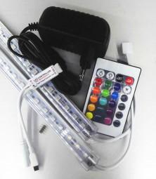 RGB LED Leisten Komplettset inkl. Controller und Netzteil