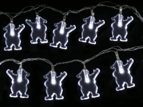 LED Lichterkette Weihnachtsmann 6,5m mit 40 Lichtern