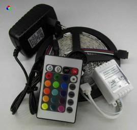 RGB LED Strip Komplettset 5m - 300 SMDs / 24W - 150 SMDs / 36W