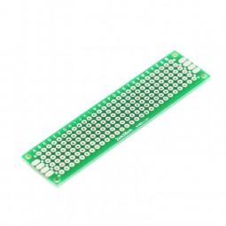 Laborkarte FR4 PCB2-2080 zweiseitig 80 x 20 x 1.6mm Rastermaß 2.54mm Platine
