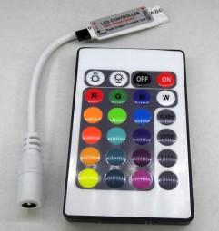 Mini RGB Controller und Dimmer mit 24 Tasten Fernbedienung 12V 12A