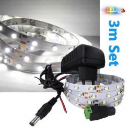 LED Streifen Komplettset 3m - 60 SMDs - 3528 - einfarbig KALTWEIß