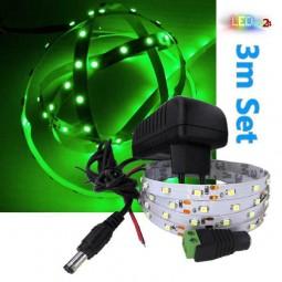 LED Streifen Komplettset 3m - 60 SMDs - 3528 - einfarbig GRÜN