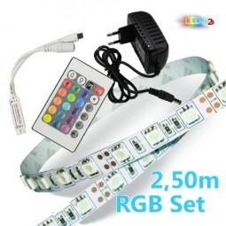 RGB LED Strip Komplettset 2,5m - 150 SMDs / 5050
