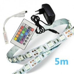 RGB LED Strip Komplettset 5m - 150 SMDs / 5050
