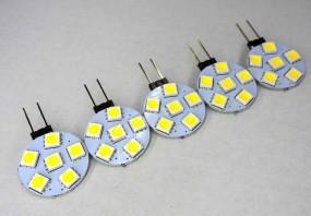 LED G4 1W 12V Leuchtmittel 5er Set warmweiß Stiftsockel (Spot, Strahler, Halogen)