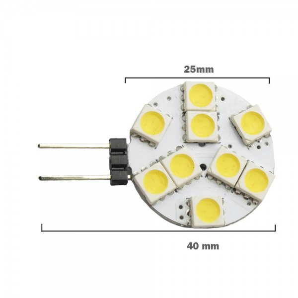 led g4 1 9w 12v leuchtmittel warmwei stiftsockel spot strahler halogen led. Black Bedroom Furniture Sets. Home Design Ideas