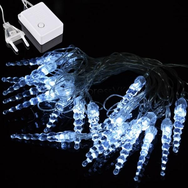 led lichterkette eiszapfen 5m mit 8 programmen led ambiente und. Black Bedroom Furniture Sets. Home Design Ideas