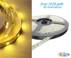LED Strip GELB 50cm - 5m 12V 60 LED/m IP20