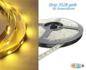 LED Strip GELB 50cm - 5m 12V 60 LED/m IP20