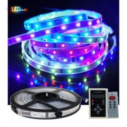 5m LED Lauflicht inkl. IC Funksteuerung RF Controller mit 133 Programmen IP68