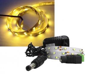 LED Strip Komplettset 1m - 60 SMDs - 3528 - einfarbig GELB