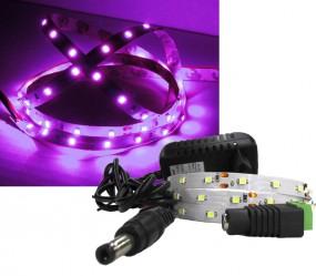 LED Strip Komplettset 1m - 60 SMDs - 3528 - einfarbig PINK